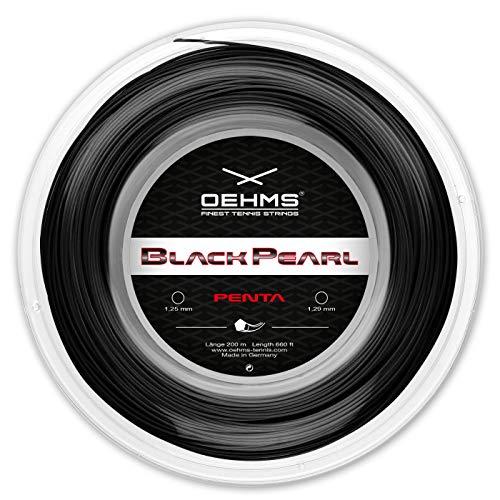 OEHMS Black Pearl Penta | Pentagonal Co-Poly Tennis-String | 660 feet Reel | 1.25 mm