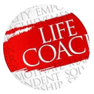 alfombrilla de ratón Life Coach nube de la palabra, concepto de negocio - ronda - 20cm