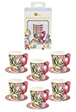 Talking Tables Alice In Wonderland Party Supplies   Tea Cups And Saucer Sets   Great For Mad Hatter Tea Party, Birthday Party And Baby Shower   Paper, 12 Pack