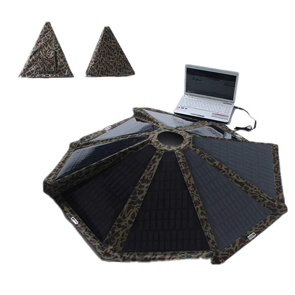 MAG.AL Round Umbrella Solar Panel 40W Folding Solar Charger for Laptop, Smart Phone, Beach, Seashore, Camping Etc, 60W