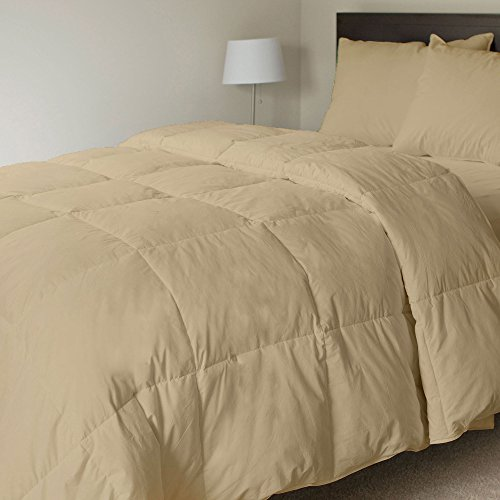 100% Organic Cotton 500 GSM Box Stitched Comforter GOTS Certified Luxury Goose Down Made in USA Light-Weight Italian Finish Quilt Cozy Ultra-Soft Fluffy by Organic Nido (King/Cal-king,Taupe) by Organic Nido