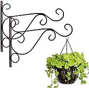 Mr Yan 2 soportes para plantas colgantes, perchas de hierro para colgar plantas, soportes resistentes para col