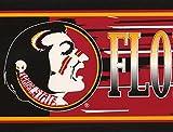 Florida State Seminoles NCAA Fan Sports Wallpaper Border Retro Design, Roll 15' x 7''