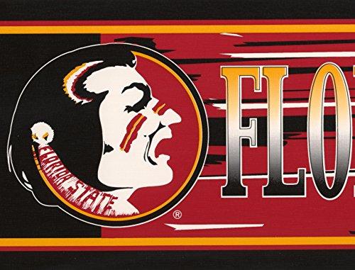 Florida State Seminoles NCAA Fan Sports Wallpaper Border Retro Design, Roll 15' x 7'' by Retro Art