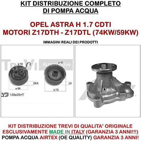 Kit de distribución Trevi Automotive + Bomba de agua airtex código kd1271: Amazon.es: Coche y moto