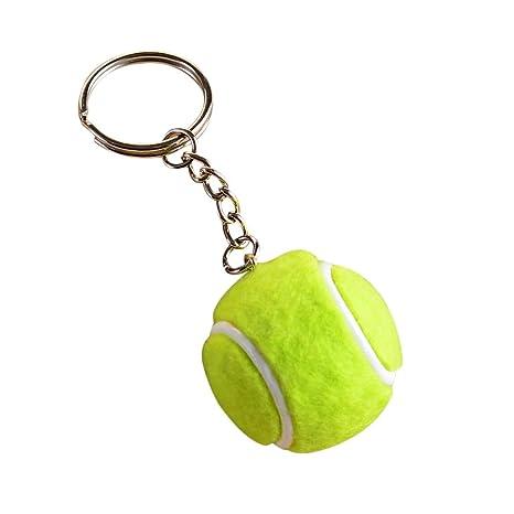 Uesae - Llavero de pelota de tenis de moda, diseño de Funko Pop con hebilla para bolso ...