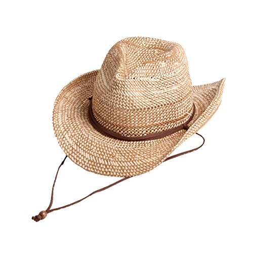 Two Tone Color With Chinstrap Cowboy Hat DCB8071 (Beige)