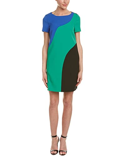 Tahari ASL Womens Amy Colorblock Shift Casual Dress
