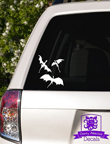 (Overly Attached Decals 3 Dragons Flying Vinyl Car Decal - 6