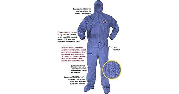 Amazon.com: Kleenguard A60 - Traje de protección química y ...
