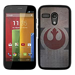 Funda carcasa para Motorola G logo alianza rebelde envejecido SW borde negro