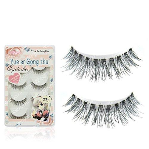 NewKelly 5 Pairs Fashion Natural Handmade Long False Eyelashes Makeup HW-57