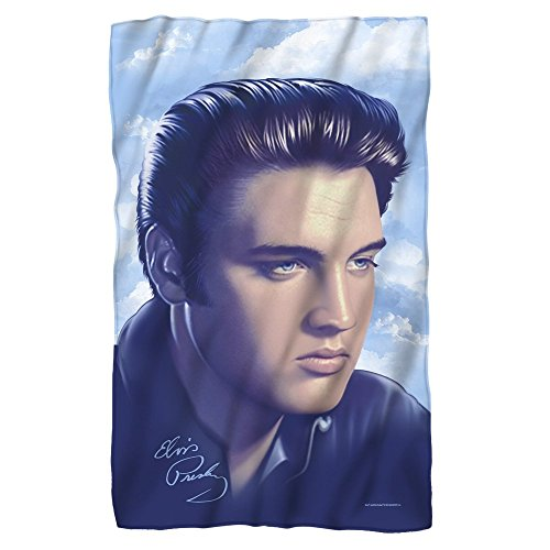 (Elvis Presley - Portraiture - Fleece Throw Blanket)