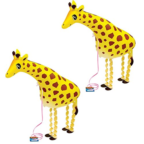 - SUSHAFEN 2 Pcs Giraffe Walking Animal Balloons Inflatable Animal Balloons Toy Ballons Kids Farm Animal Theme Birthday Party Supplies Home Garden Decorations