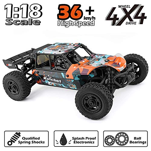 HAIBOXING RC Cars 1:18 Scale 4WD Off-Road Buggy 36+KM/H High Speed 18856, 2.4 GHz All-Terrain Waterproof Radio Controlled Trucks, Hobby Grade RTR Electric Remote Controlled Car for Kids and Adults (Gas Rc Cars Fast 100 Mph)