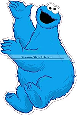 "11"" Cookie Monster Sesame Street Removable Peel Self Stick Adhesive Vinyl Decorative Wall Decal Sticker Art Kids Room Home Decor Girl Boy Children Bedroom Nursery 9 x 11 inch tall"