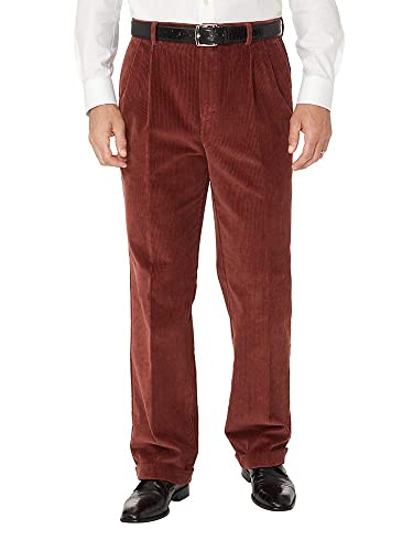1950s Men's Pants, Trousers, Shorts | Rockabilly Jeans, Greaser Styles Paul Fredrick Mens Cotton Corduroy Pleated Pants $49.98 AT vintagedancer.com