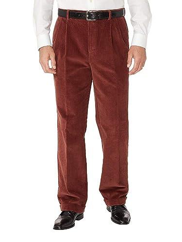1950s Men's Clothing Paul Fredrick Mens Cotton Corduroy Pleated Pants $49.98 AT vintagedancer.com