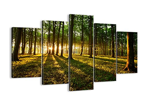 Canvas Print Picture – 5 Piece – Total size Width 59,1 150cm , Height 39,4 100cm Completely framed – Wall Art – Ready to Hang – multi panel – five 5 Part Panels – photo no. 2510 – EA150x100-2510