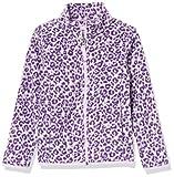 Amazon Essentials Girls' Toddler Polar Fleece Full-Zip Mock Jackets, Grey Leopard, 2T