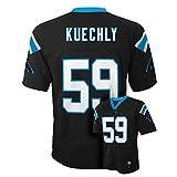 Luke Kuechly #59 Carolina Panthers NFL Youth Mid-tier Jersey Black (Youth Medium 10/12)