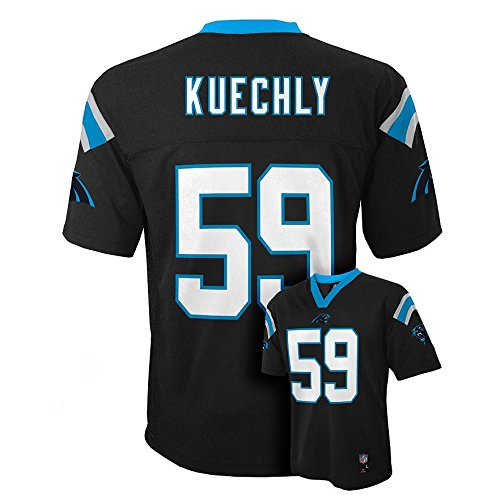 - Outerstuff Luke Kuechly #59 Carolina Panthers NFL Youth Mid-tier Jersey Black (Youth Small 8)
