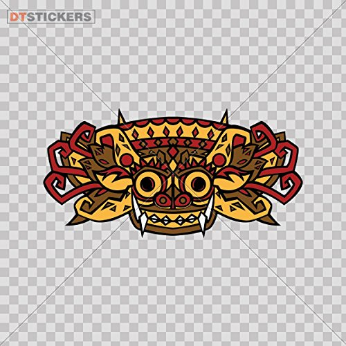 (Sticker Ancient Aztec Culture Design durable Boat (4 X 2 In. ) Fully Waterproof Printed vinyl sticker)