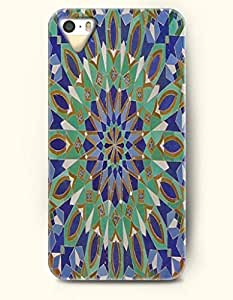 SevenArc Apple iPhone 4 4S Case Moroccan Pattern ( Green and Blue Mosaic Geometry Pattern )