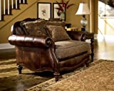 Chair and a Half Ashley Furniture Signature Design - Claremore Chair and a Half with 1 Accent Pillow - Grand Elegance - Brown