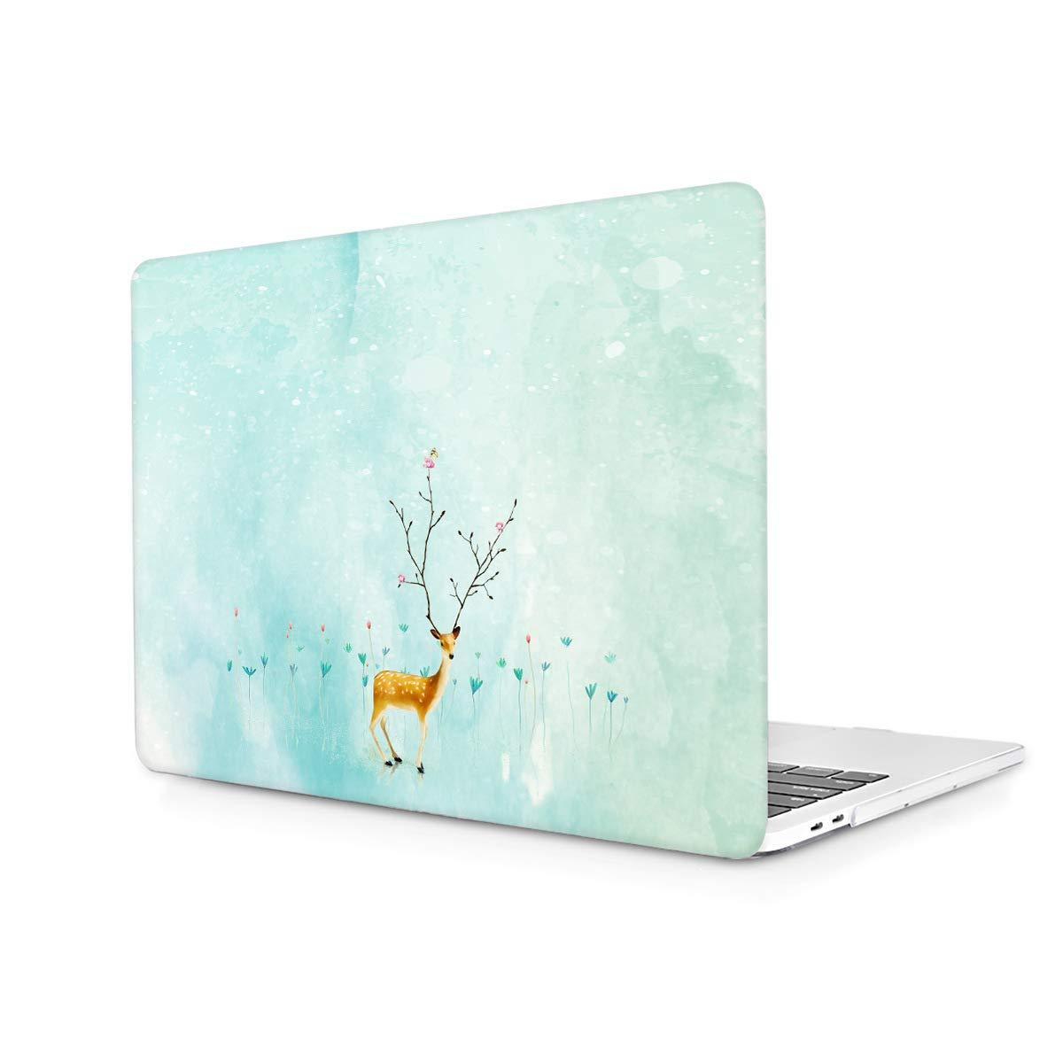 TwoL Funda Duras Carcasa para MacBook Pro 13-13.3 Pulgadas Avec CD-ROM A1278 Venado Sika
