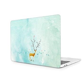 TwoL Funda Duras Carcasa para MacBook 12 Pulgadas A1534 Venado Sika
