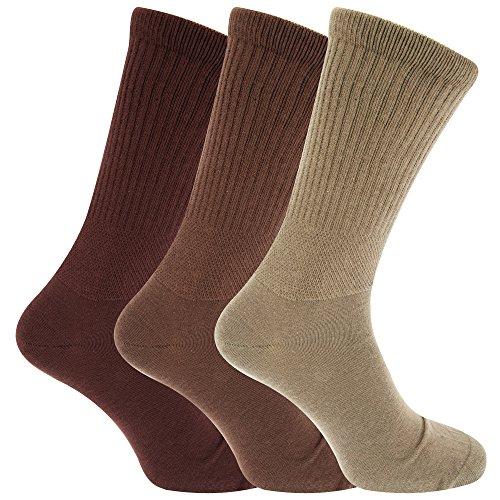 Mens Extra Wide Comfort Fit Wide Feet Diabetic Socks (3 Pairs)