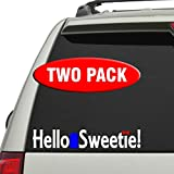 dr color - Hello Sweetie! 2 Pack - Doctor Who - Vinyl decal in three colors!