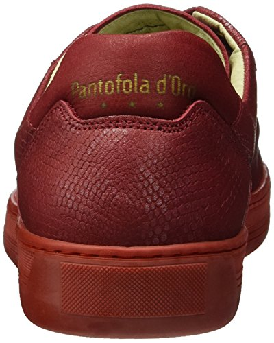 Pantofola d'Oro Biasco Cocodrillo Uomo Low - Zapatillas Hombre Rojo