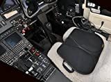 Skwoosh Travel Seat Pad Cushion - Gel, mesh Fabric, Foldable, Handles, Waterproof, Lightweight - for Travel, Pilots and Office - Command Pilot
