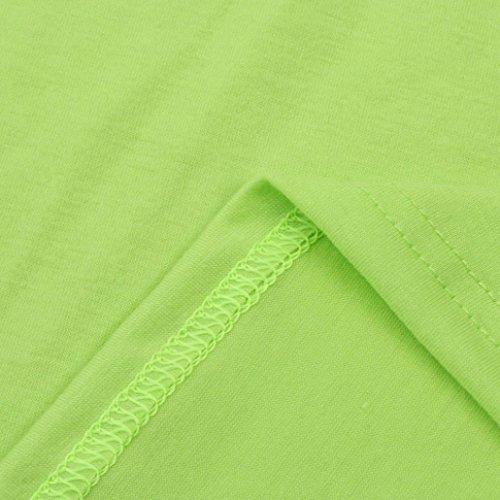 FNKDOR Mujeres Verano sin mangas flores chaleco Tops blusa vacaciones playa casual camiseta Verde