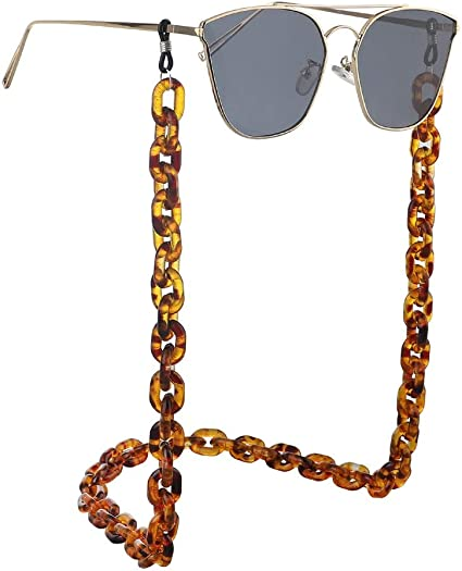 Cordino per collo a catena per occhiali Catena di occhiali in plastica acrilica punk resina unisex Catena di anti-perso occhiali retro protezione ambientale semplice antiscivolo Anelli antiscivolo in