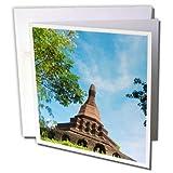 3dRose Danita Delimont - Travel - Pagoda, Mrauk U, Rakhine State, Myanmar - 6 Greeting Cards with envelopes (gc_276717_1)