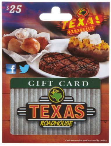 Texas Roadhouse Gift Card $25 (Best Place To Sell Gift Cards In Person)