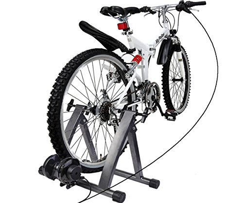 CHOOSEandBUY Magnetic Exercise 5 levels of Resistance Indoor Bicycle Trainer Stand by CHOOSEandBUY