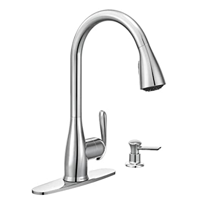 Moen 87877 Haysfield Single Handle Pull Down Sprayer Kitchen Faucet