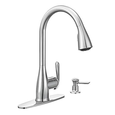 Moen 87877 Haysfield Single-Handle Pull-Down Sprayer Kitchen Faucet  Featuring Reflex, Chrome