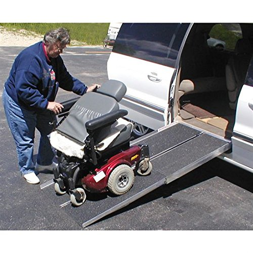 Folding Portable Wheelchair Ramp : Quot portable folding aluminum wheelchair scooter ramp