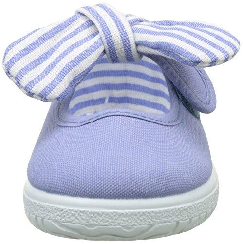 Victoria Mercedes Lona Pañuelo, Bailarinas Para Bebés Azul (Lavanda)