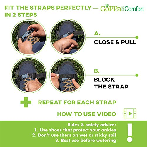 GoPPa Lawn Aerator Shoes – Easiest to USE Lawn Aerator Sandal, You only FIT Once. Ready for aerating Your Yard, Lawn, Roots & Grass – Comfort Design by GoPPa (Image #6)
