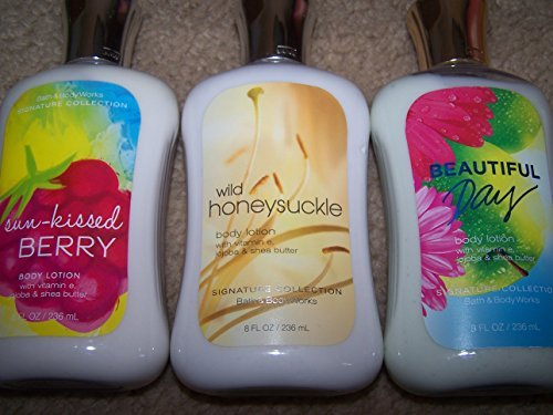Lot of 3 Bath & Body Works Assorted Body Lotions - Sun Kisse