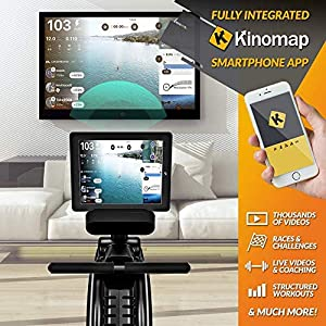Bluefin Fitness Blade Air Rowing Machine | Home Use Foldable | Dual Magnetic + Air Resistance Rower | Kinomap | Live Video Streaming | Video Coaching & Training | LCD Digital Console | Smartphone App