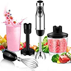 Why choose our BSTY hand held blenders?  1.The BSTY 5-in-1 commercial immersion blenderinclude thoughtful attachments and features that make food preparation a snap. This hand stick blenderappliance includes Stainless Steel Blades, Egg Wh...