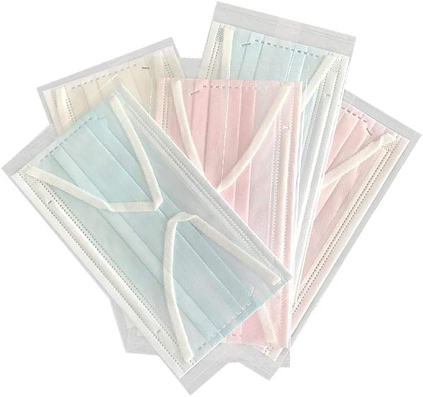 HICKEY 50 unidades por paquete de 3 capas de cubierta facial desechable, antivaho y antipolvo, telas no tejidas a prueba de polvo, contaminación del aire, protección facial y protector facial