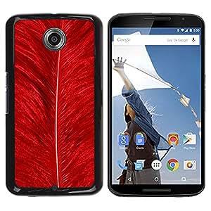 Caucho caso de Shell duro de la cubierta de accesorios de protección BY RAYDREAMMM - Motorola NEXUS 6 / X / Moto X Pro - Feather Red Bird Nature Bright Nature